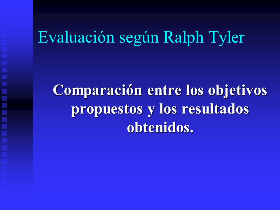 Evaluación según Ralph Tyler