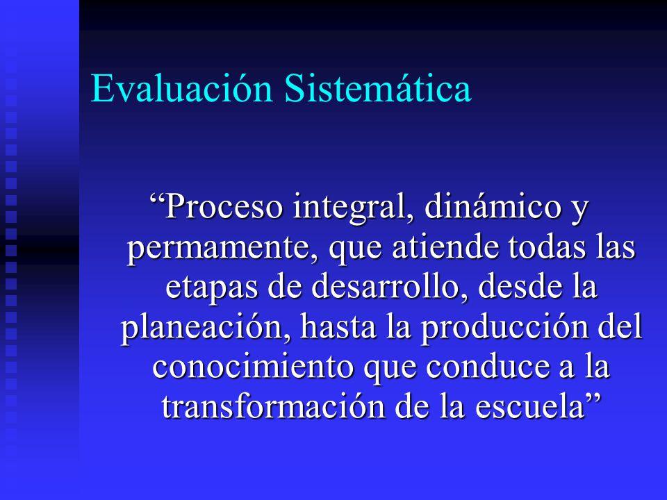 Evaluación Sistemática