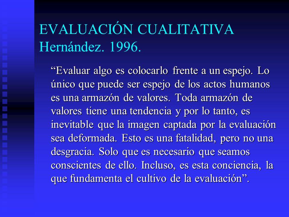 EVALUACIÓN CUALITATIVA Hernández. 1996.