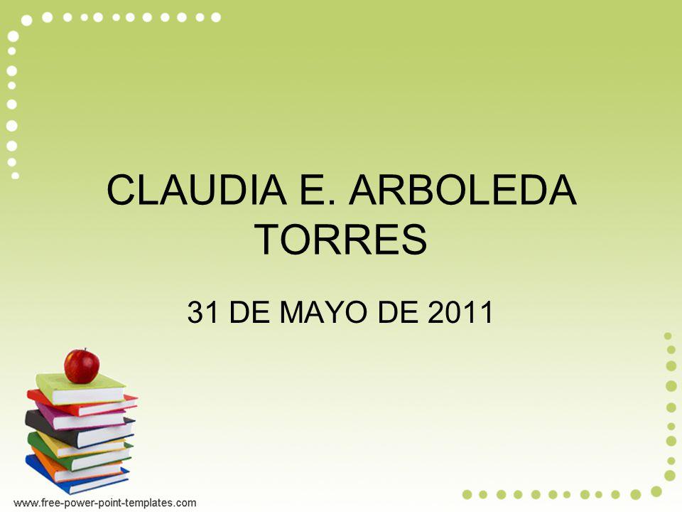 CLAUDIA E. ARBOLEDA TORRES