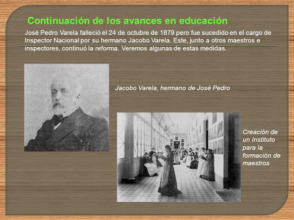 Continuación de los avances en educación