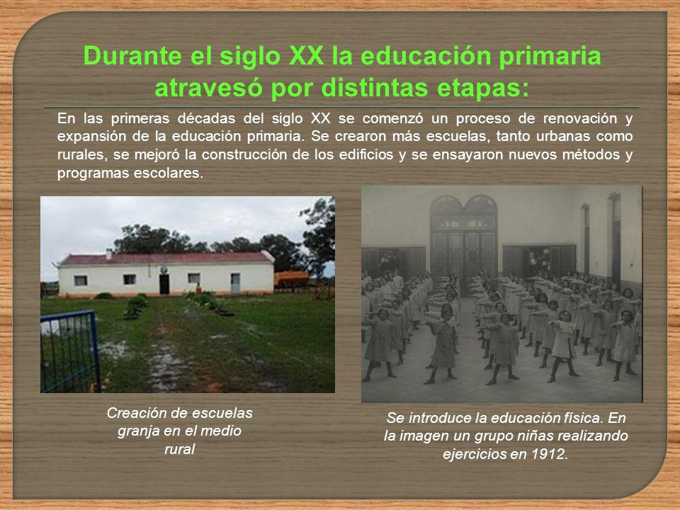 Creación de escuelas granja en el medio rural