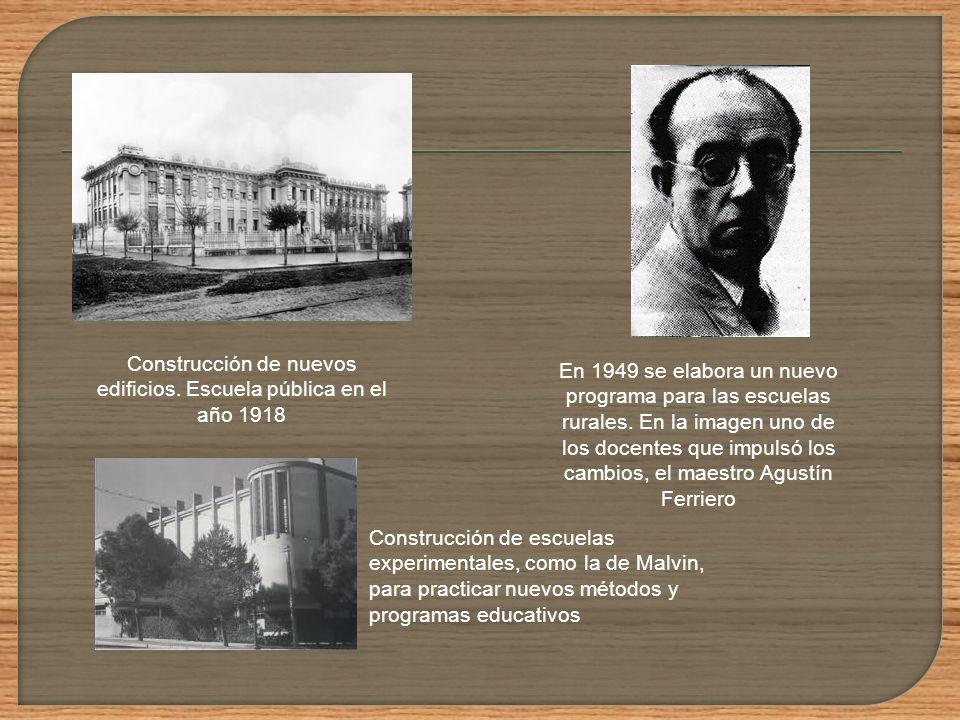 Construcción de nuevos edificios. Escuela pública en el año 1918