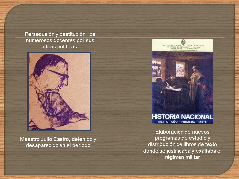 Maestro Julio Castro, detenido y desaparecido en el período