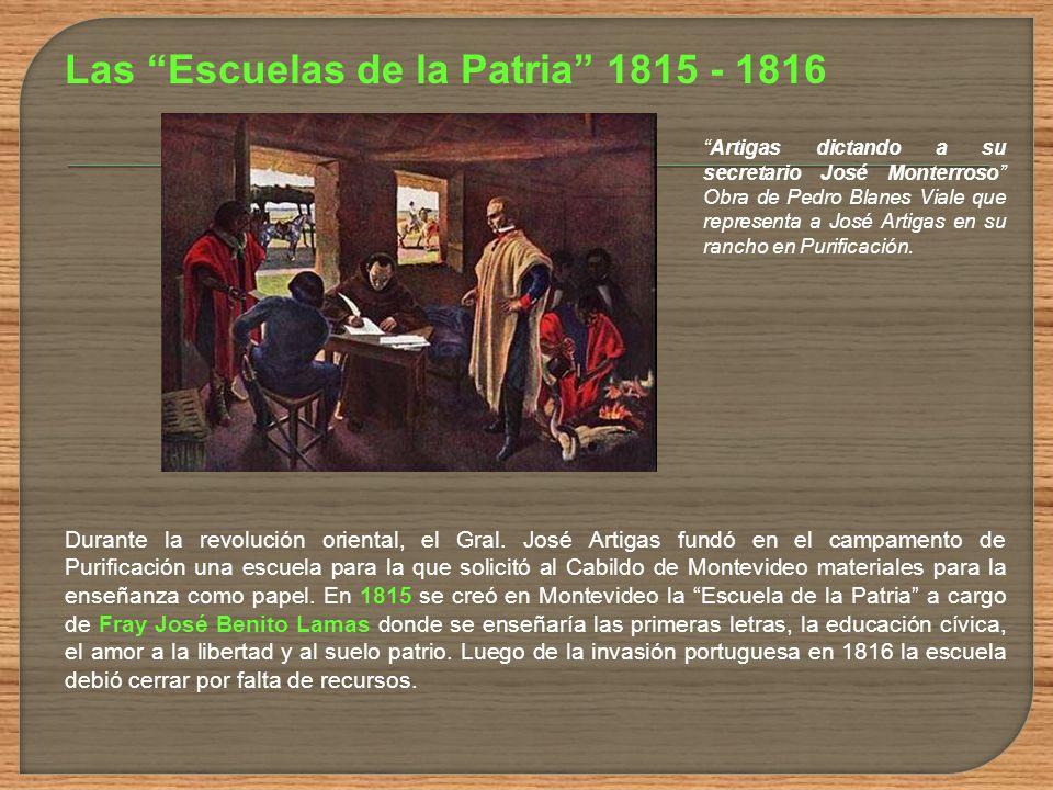 Las Escuelas de la Patria 1815 - 1816