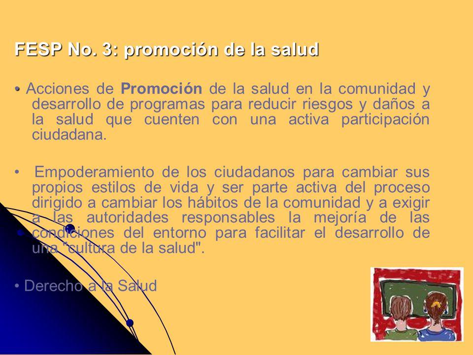 FESP No. 3: promoción de la salud