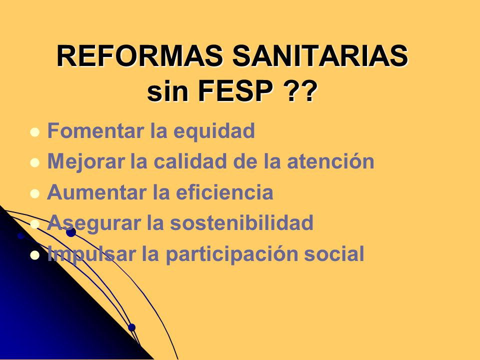 REFORMAS SANITARIAS sin FESP
