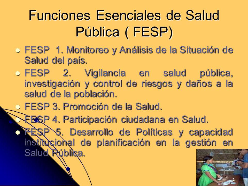 Funciones Esenciales de Salud Pública ( FESP)