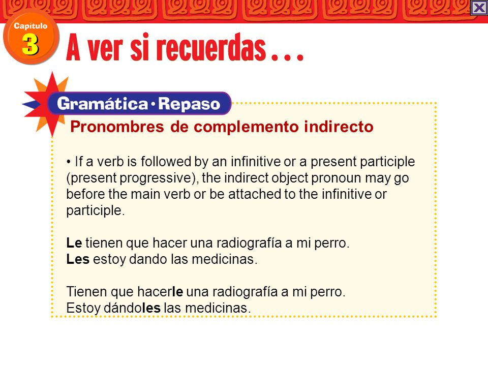 Pronombres de complemento indirecto
