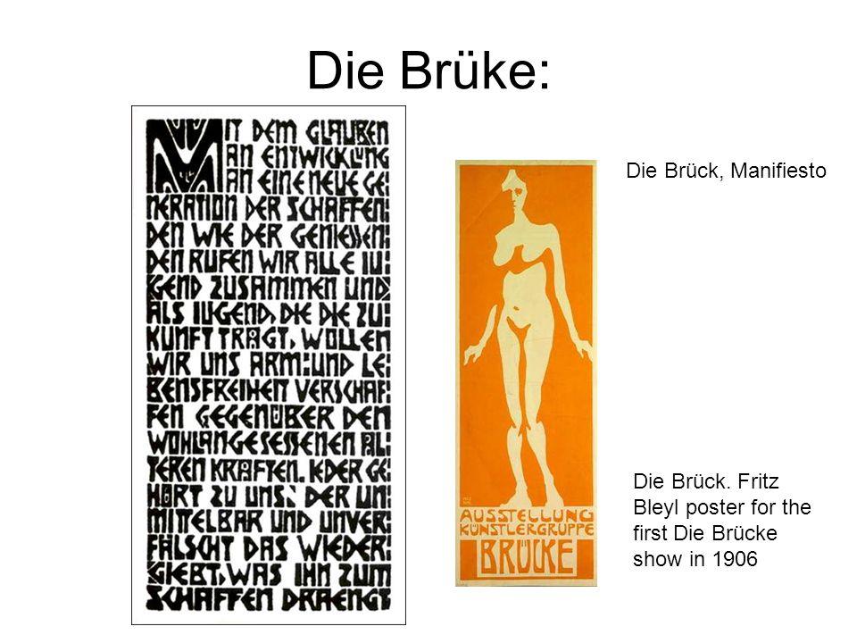 Die Brüke: Die Brück, Manifiesto
