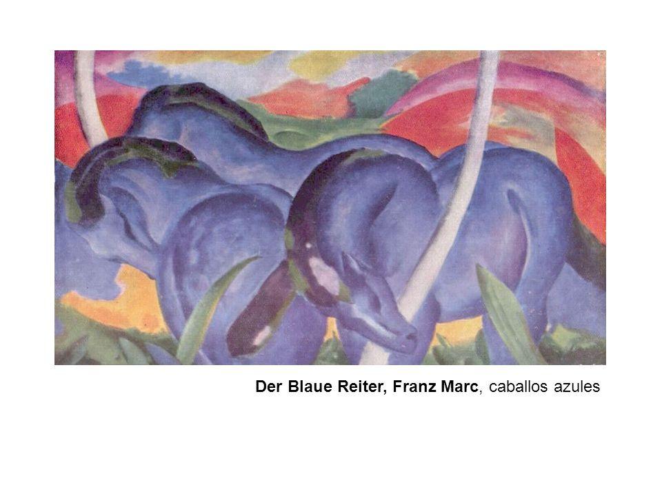 Der Blaue Reiter, Franz Marc, caballos azules