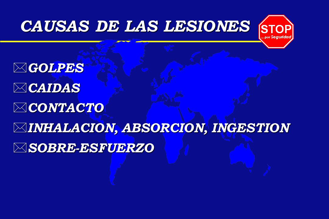 CAUSAS DE LAS LESIONES GOLPES CAIDAS CONTACTO