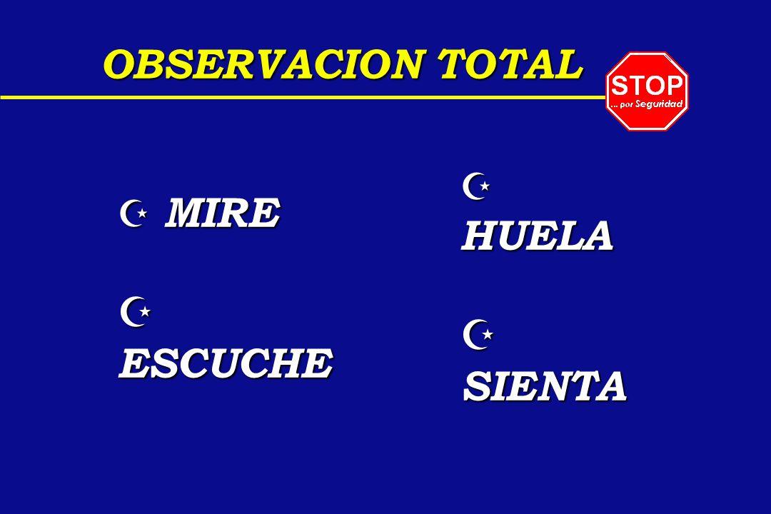OBSERVACION TOTAL HUELA SIENTA MIRE ESCUCHE