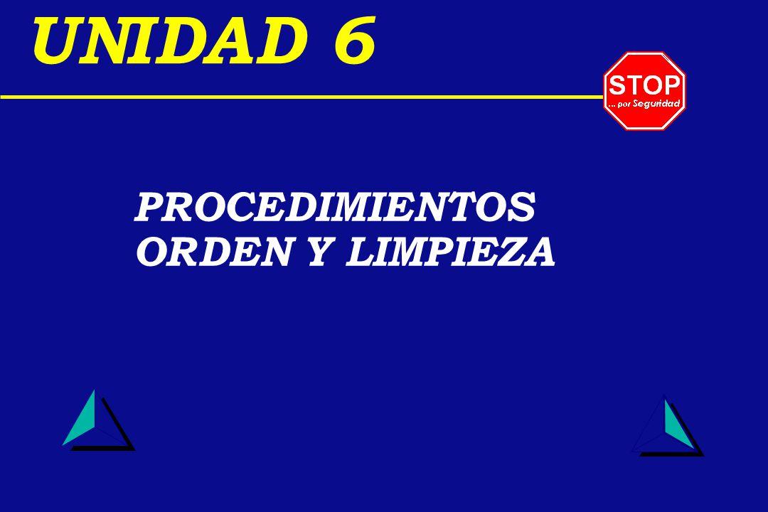 PROCEDIMIENTOS ORDEN Y LIMPIEZA