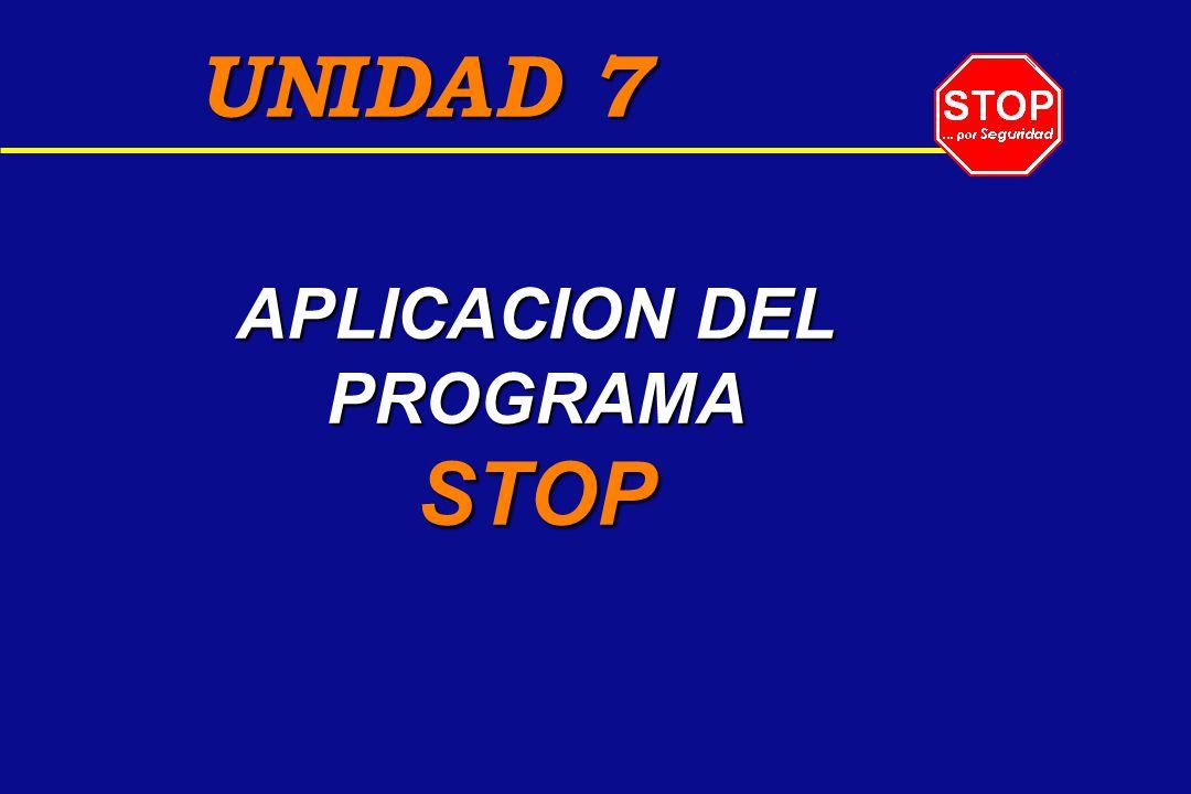 APLICACION DEL PROGRAMA STOP