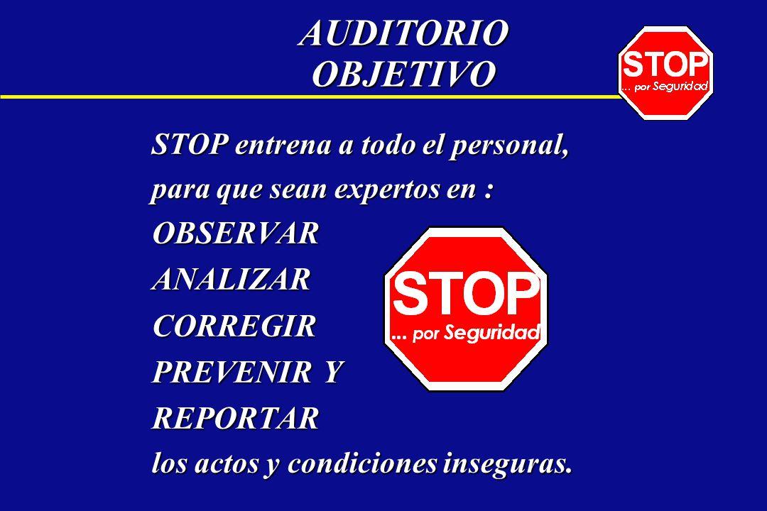 AUDITORIO OBJETIVO OBSERVAR ANALIZAR CORREGIR PREVENIR Y REPORTAR