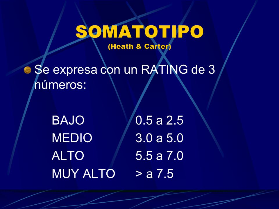 SOMATOTIPO (Heath & Carter)
