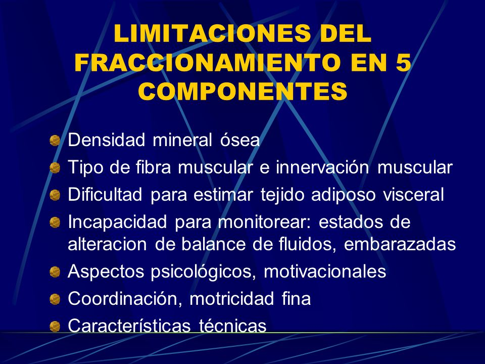 LIMITACIONES DEL FRACCIONAMIENTO EN 5 COMPONENTES