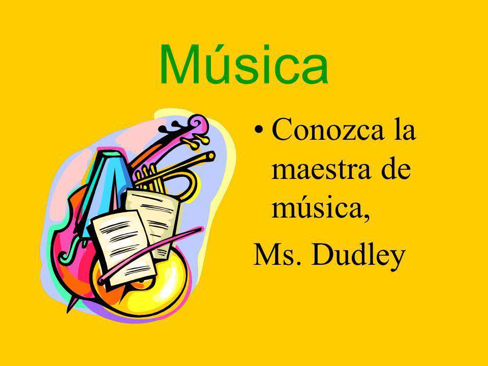 Música Conozca la maestra de música, Ms. Dudley
