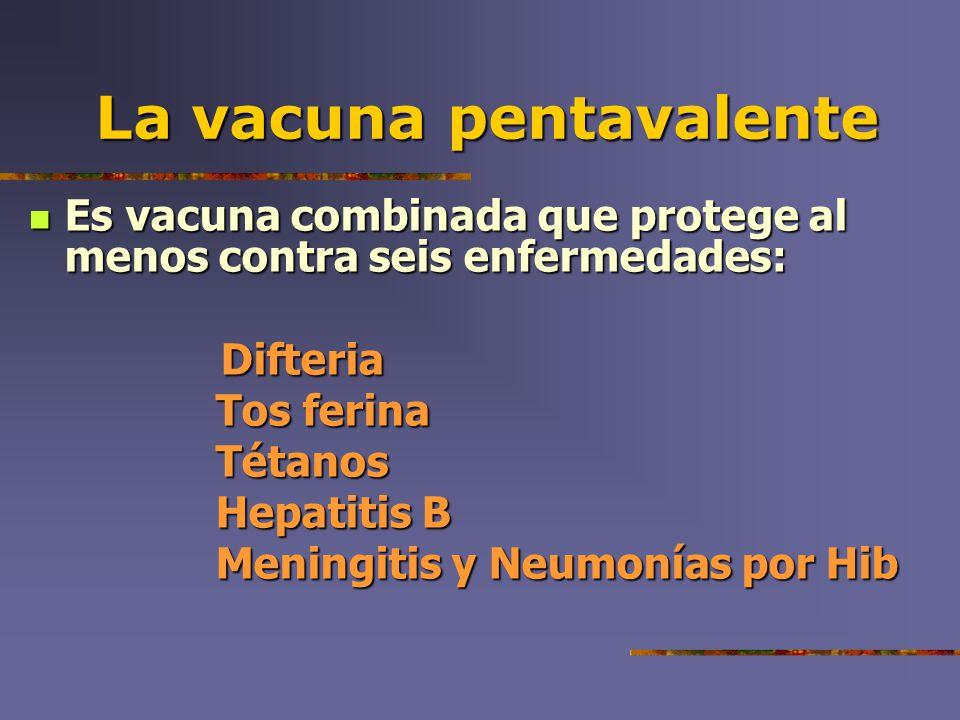 La vacuna pentavalente