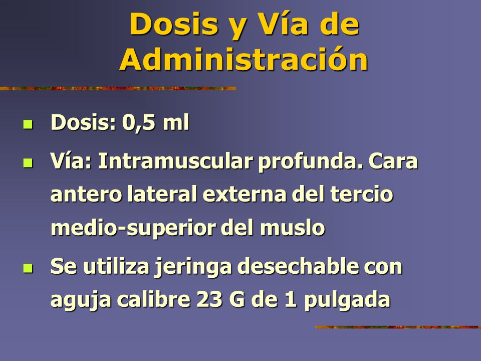 Dosis y Vía de Administración