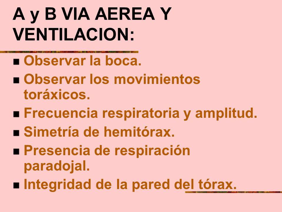 A y B VIA AEREA Y VENTILACION: