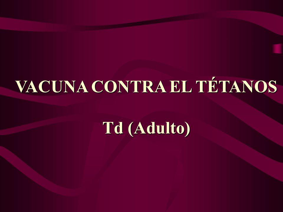 VACUNA CONTRA EL TÉTANOS