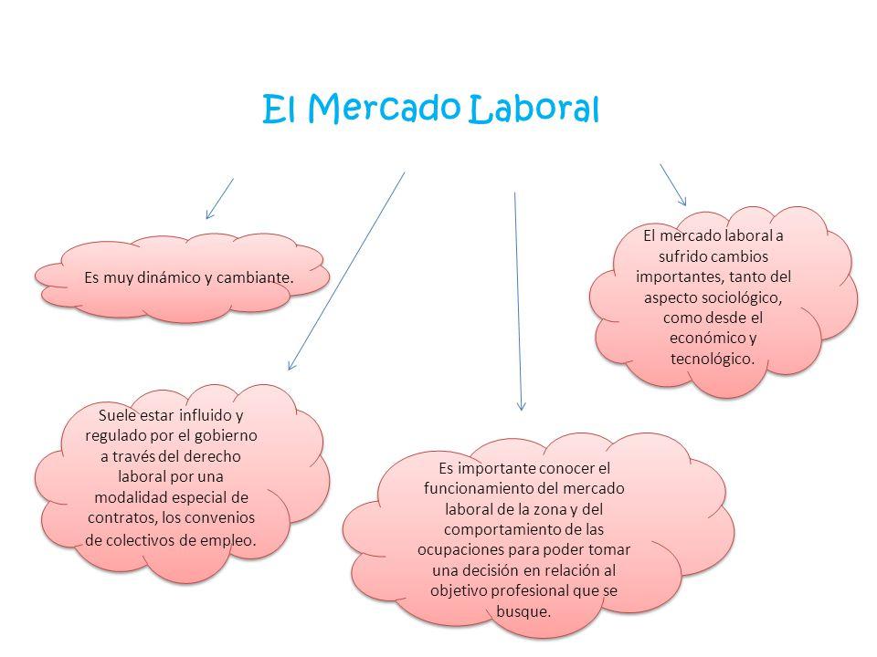 El Mercado Laboral El mercado laboral a sufrido cambios importantes, tanto del aspecto sociológico, como desde el económico y tecnológico.