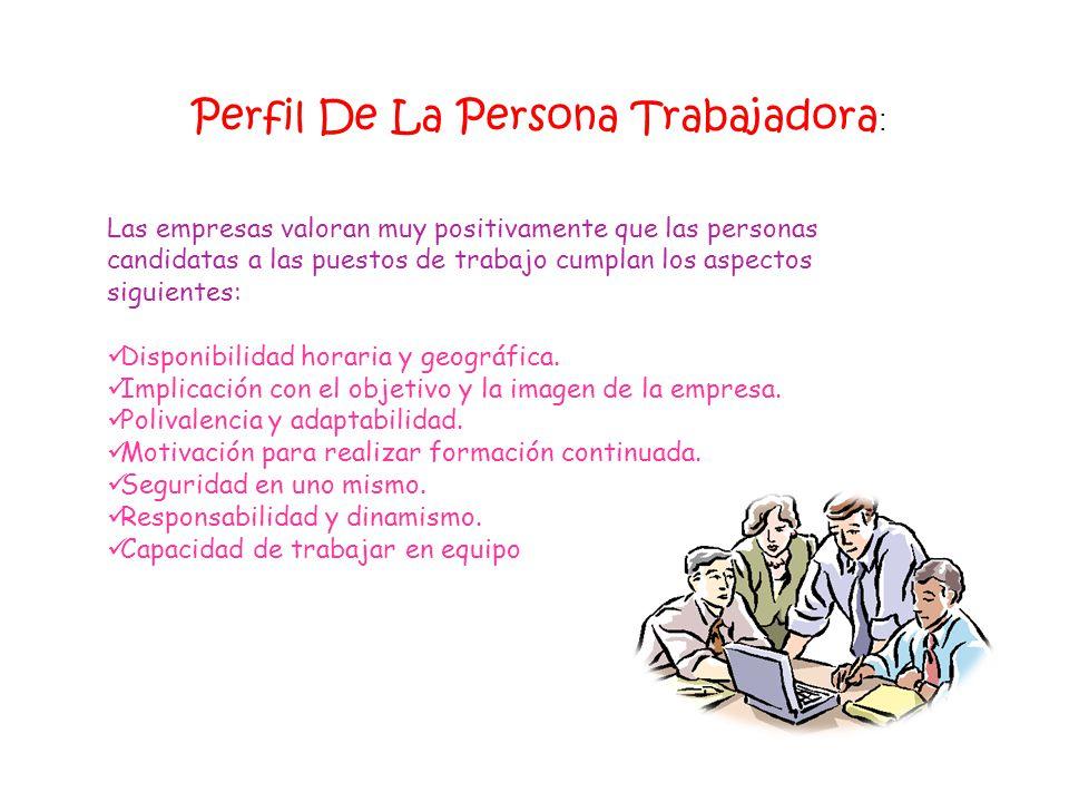 Perfil De La Persona Trabajadora: