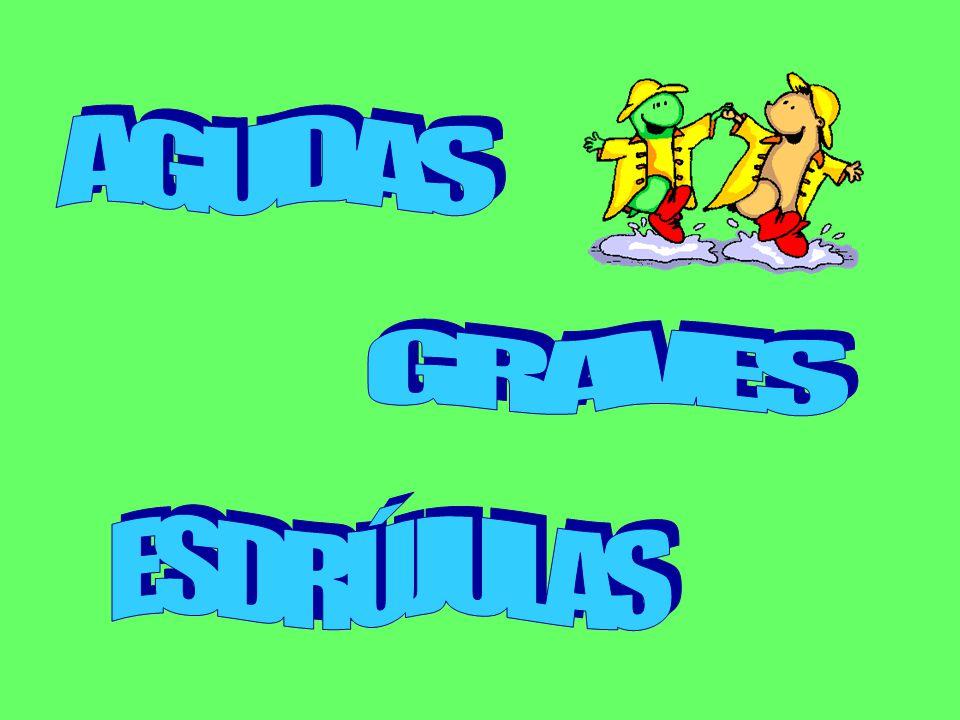 AGUDAS GRAVES ESDRÚJULAS