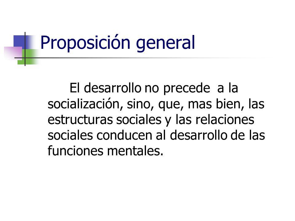 Proposición general