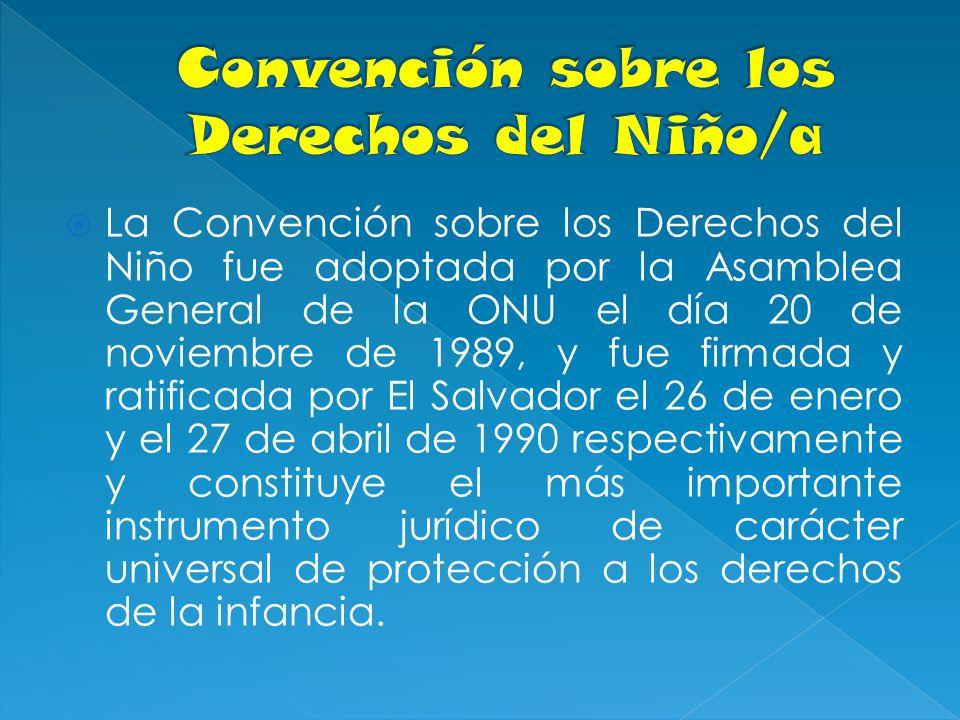 Convención sobre los Derechos del Niño/a