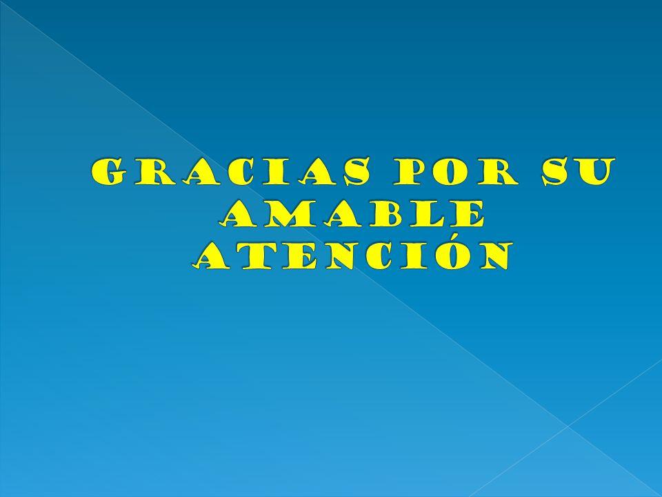 Gracias por su amable atención