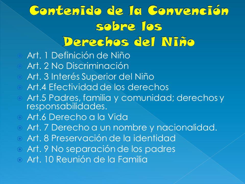 Contenido de la Convención sobre los Derechos del Niño