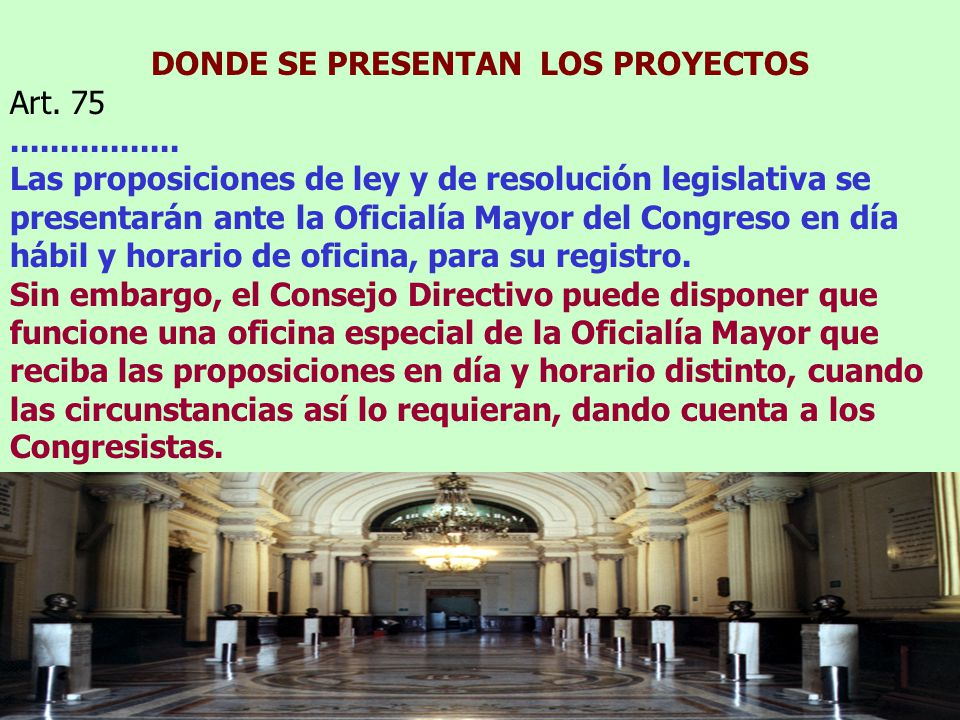 DONDE SE PRESENTAN LOS PROYECTOS