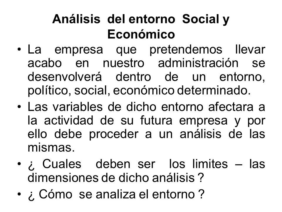 Análisis del entorno Social y Económico