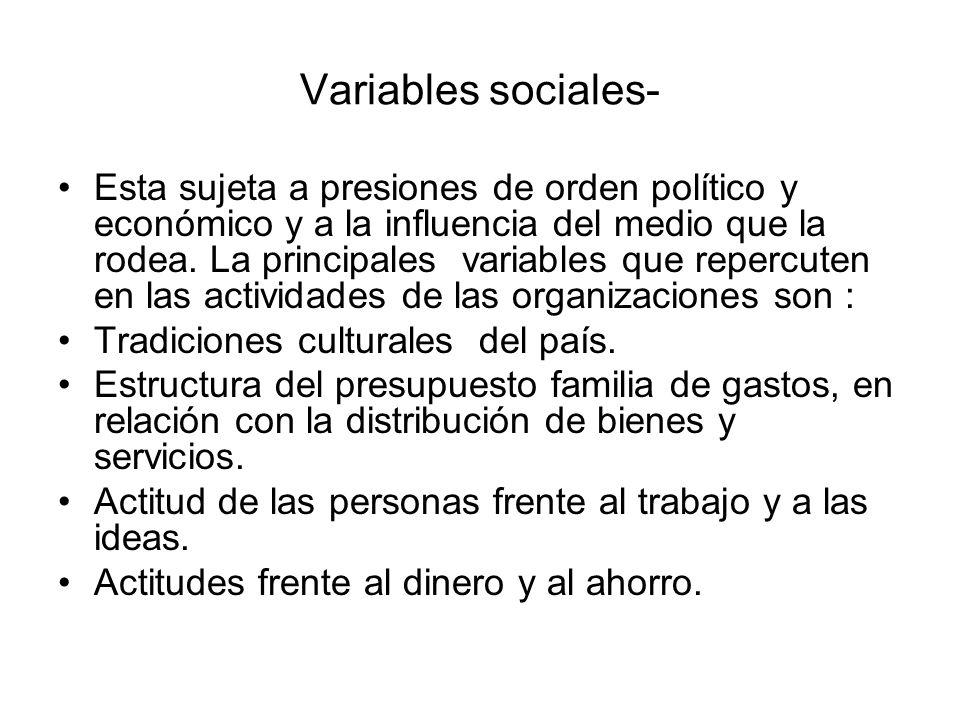 Variables sociales-
