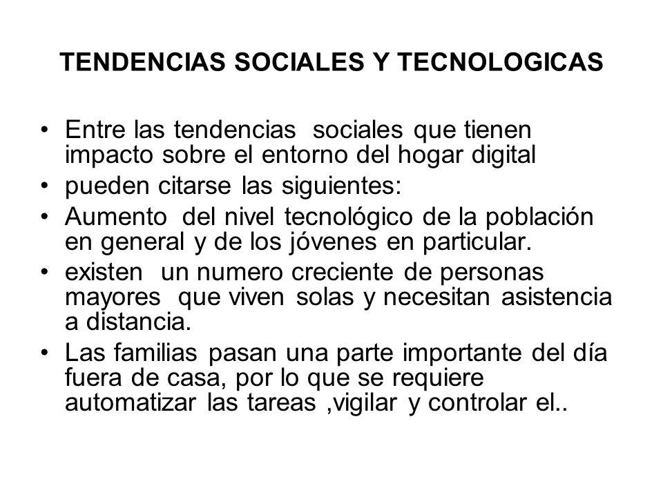 TENDENCIAS SOCIALES Y TECNOLOGICAS
