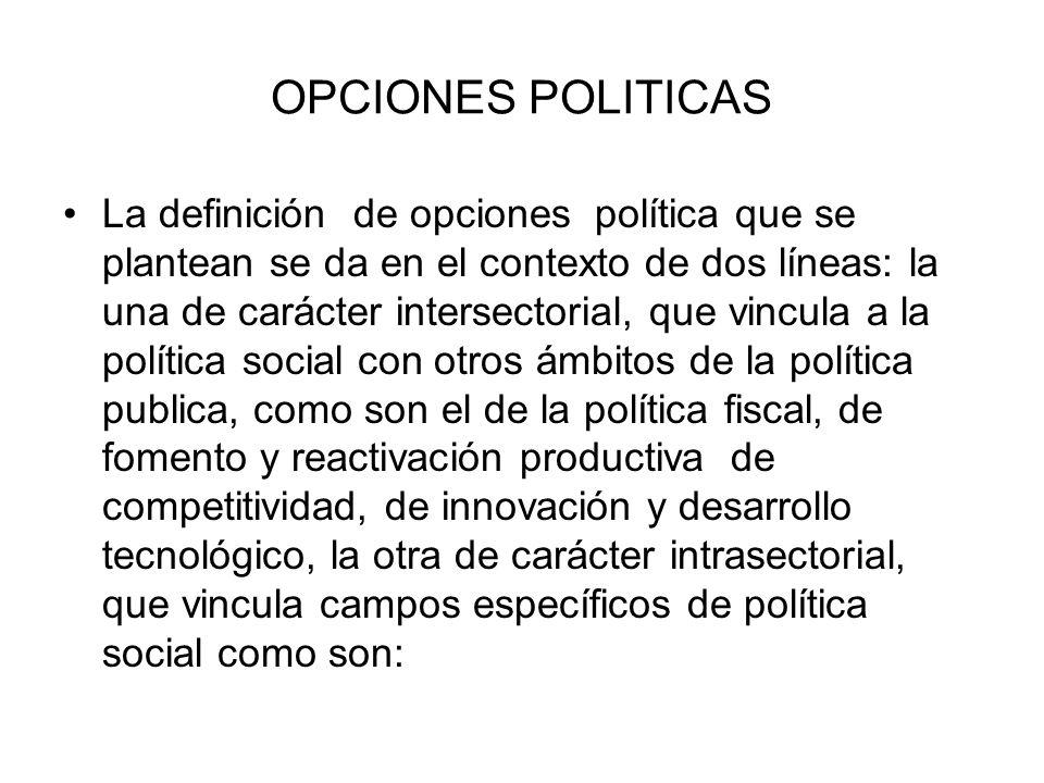 OPCIONES POLITICAS