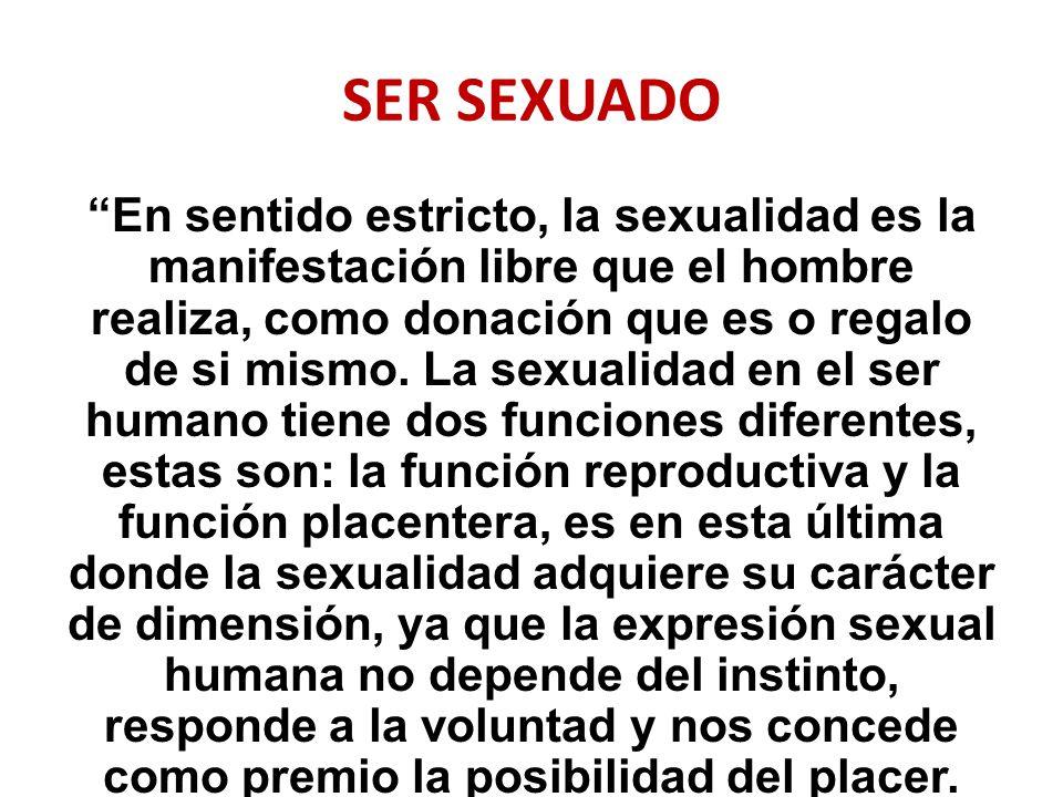 SER SEXUADO