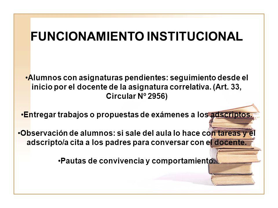 FUNCIONAMIENTO INSTITUCIONAL