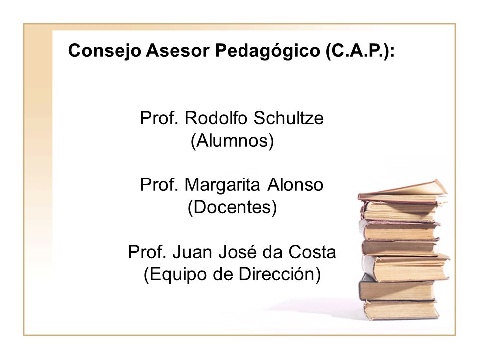 Consejo Asesor Pedagógico (C.A.P.):