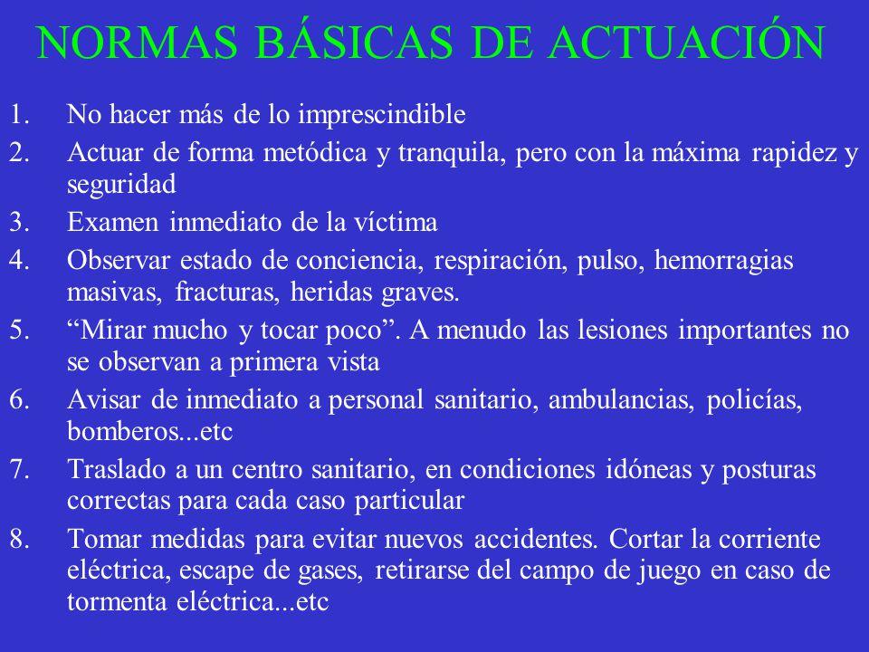 NORMAS BÁSICAS DE ACTUACIÓN