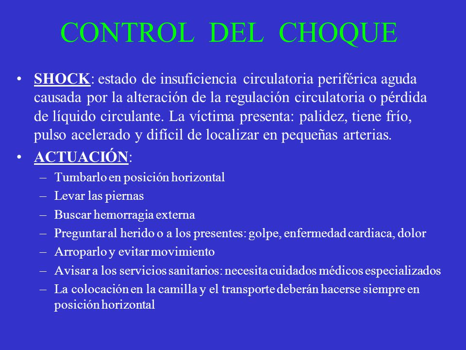 CONTROL DEL CHOQUE