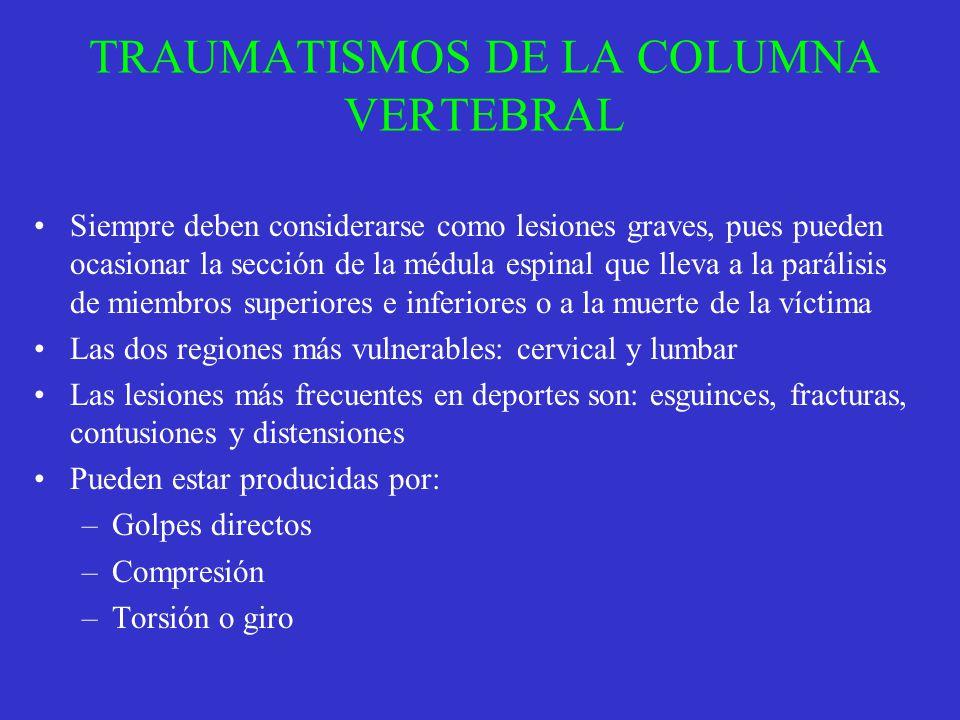 TRAUMATISMOS DE LA COLUMNA VERTEBRAL