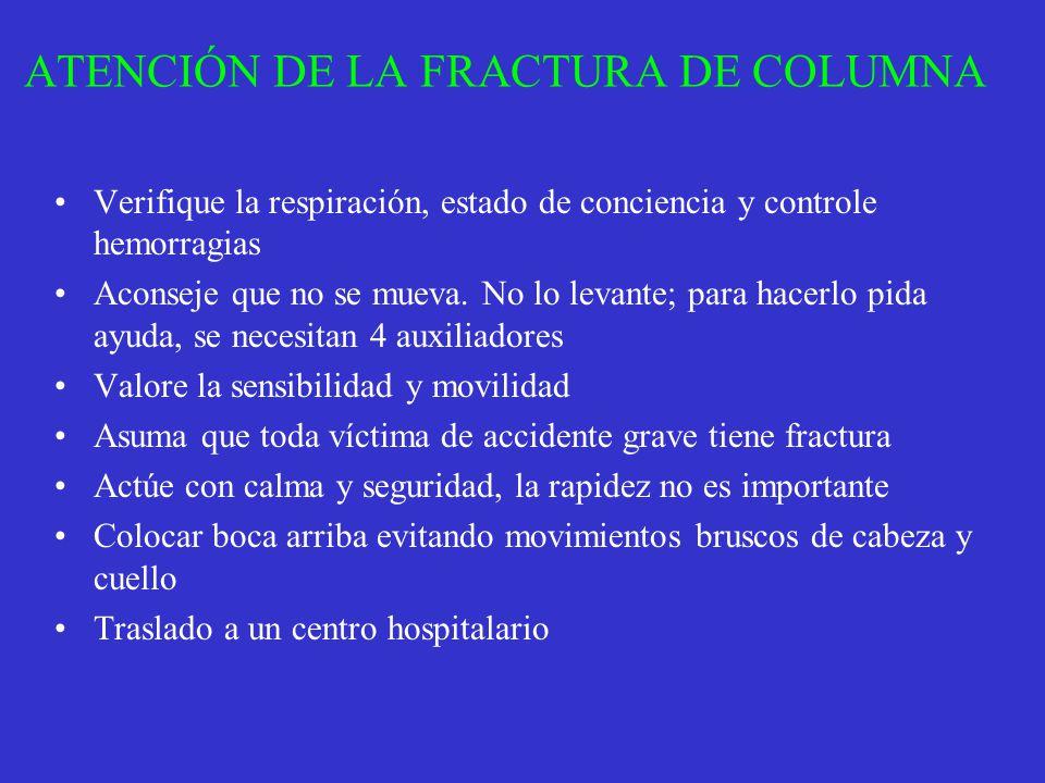 ATENCIÓN DE LA FRACTURA DE COLUMNA