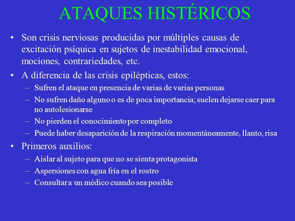 ATAQUES HISTÉRICOS