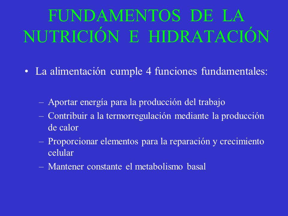 FUNDAMENTOS DE LA NUTRICIÓN E HIDRATACIÓN