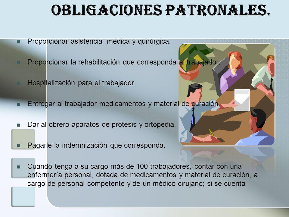 Obligaciones Patronales.