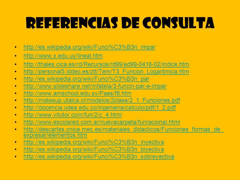 Referencias de consulta